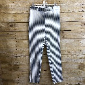H&M Blue Striped Ankle Pants Size 4